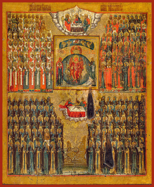 Synaxis of the Wonderworkers of Russia Orthodox icon