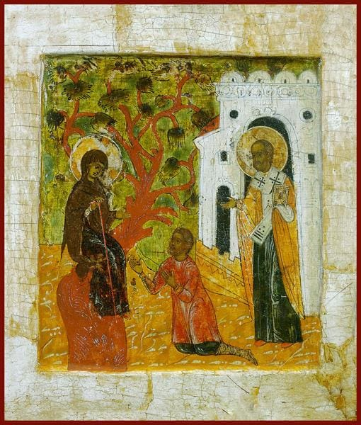 The Appearance Of The Mother Of God And St. Nicholas To Gregory Yuruish - Icons