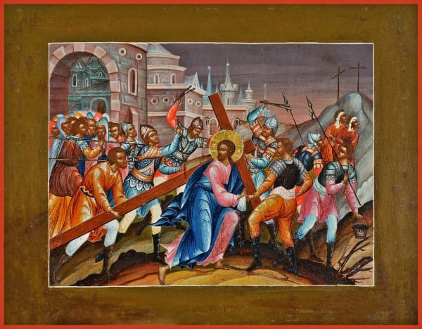 The Carrying Of The Cross To Golgotha - Icons