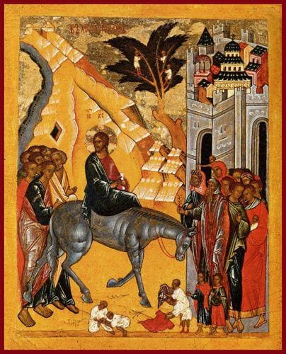 The Entry Into Jersualem - Icons