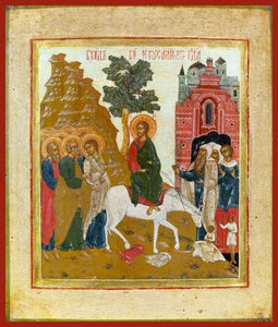 The Entry Into Jerusalem - Icons