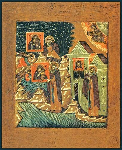 The Miracle Of The Mother Of God To St. Abramius Of Galich - Icons