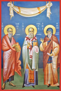 The Three Theologians (John Gregory And Simeon) - Icons