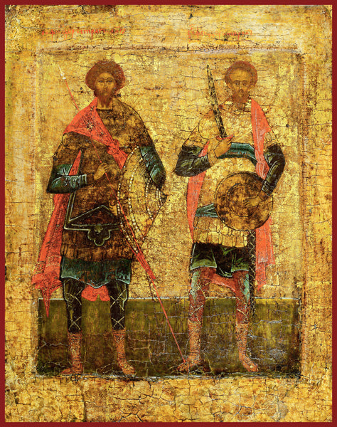 Sts. Theodore Stratelates and Thedore Tyro Orthodox icon