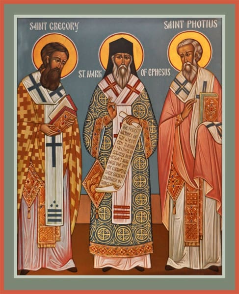 Three Pillars Of Orthodoxy: Sts. Photius Mark Of Ephesus And Gregory Palamas - Icons