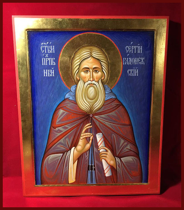 st Sergius painted icon