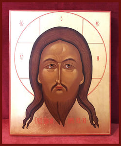newly painted russian icon savior wet beard