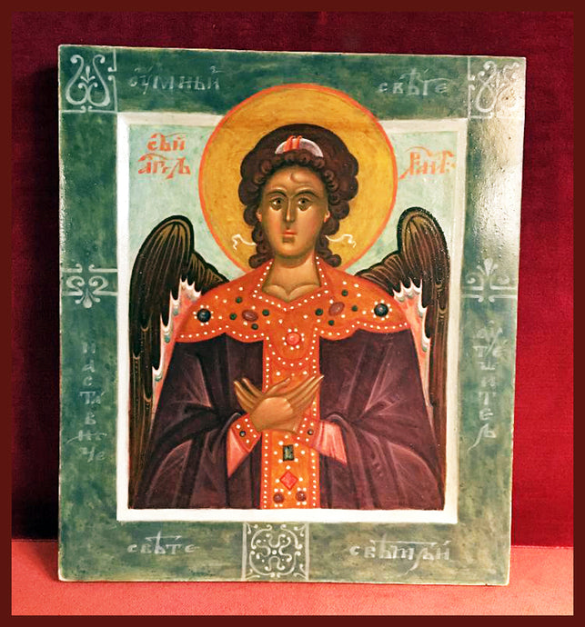 Guardian Angel Russian icon newly painted