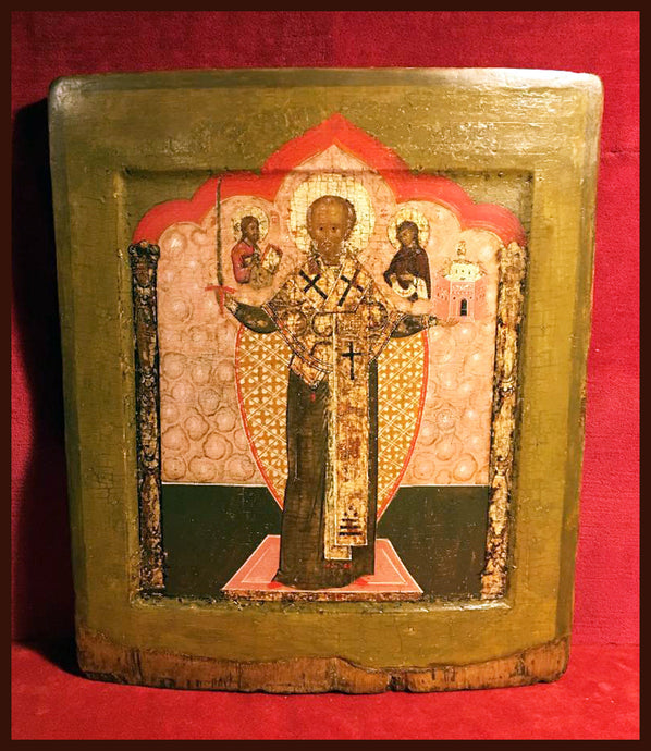 St. Nicholas Mozhaisk antique icon