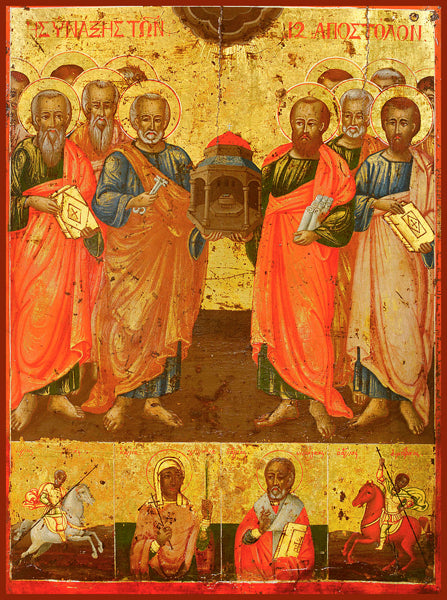 The Twelve Apostles Greek Orthodox Icon