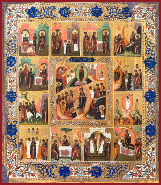 The Twelve Great Feasts Orthodox icon