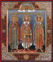 Load image into Gallery viewer, Sts. Boris, Vladimir, and Alexander Nevsky