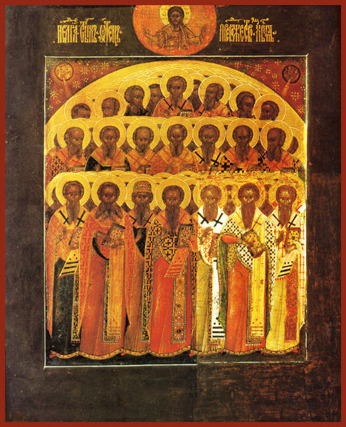 Synaxis of the Holy Fathers Orthodox Icon