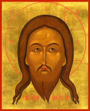 "Load image into Gallery viewer, The Savior ""Wet Beard"" Russian Orthodox icon"