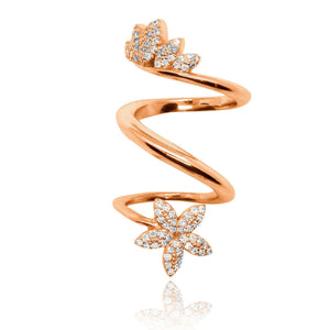 Sabyavi Body Jewellery Gold Armor Full Finger Ring Sterling Silver