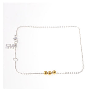 Sabyavi Body Jewellery Round Bean Chain Anklet