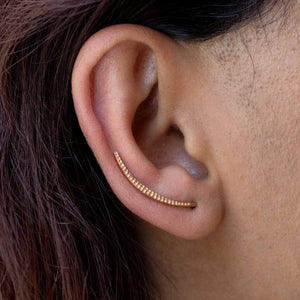 Sabyavi Earrings Gold Ear Climber Sterling Silver
