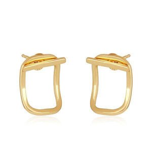 Sabyavi Earrings Gold Ear Jacket Sterling Silver