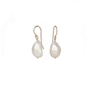 Sabyavi Earrings Baroque Pearl Gold Plated Earring Sterling Silver