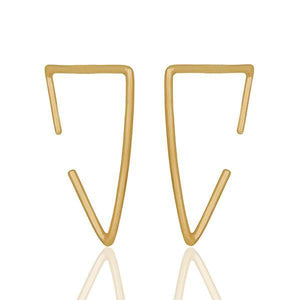Sabyavi Hoops Gold Angular Hoops Sterling Silver