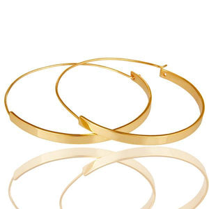 Sabyavi Hoops Gold Baali Hoops Sterling Silver