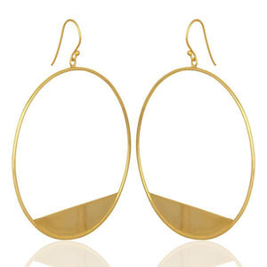Sabyavi Hoops Gold Dangling Hoops Sterling Silver