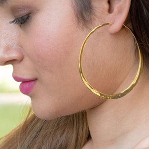 Sabyavi Hoops Gold Shoulder Duster Hoops Sterling Silver