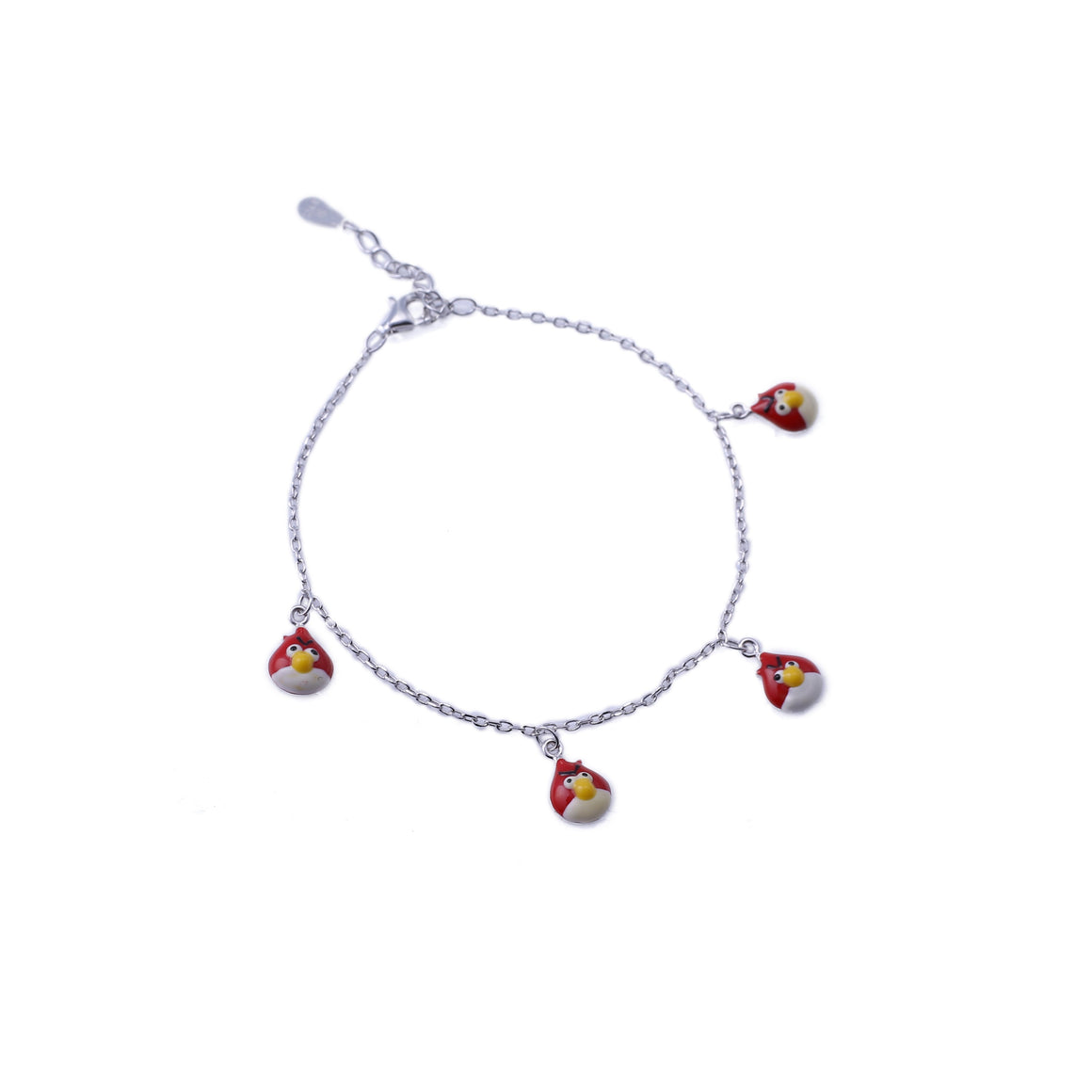 Sabyavi Kids Bird Enamelled Tennis Bracelet Sterling Silver