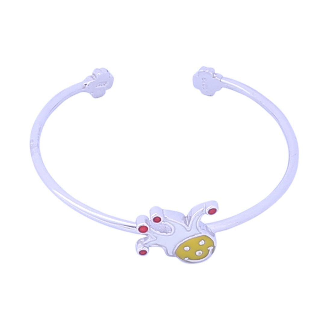 Sabyavi Kids Clown Enamelled Cuff Bracelet Sterling Silver