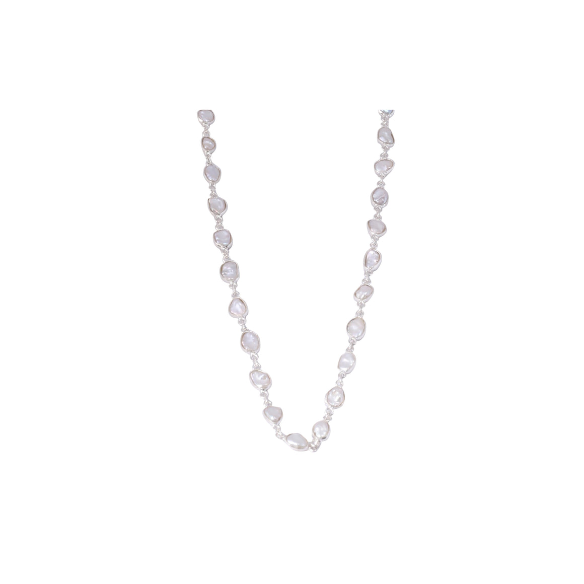 Sabyavi Pendant Baroque Pearl Lariat Sterling Silver