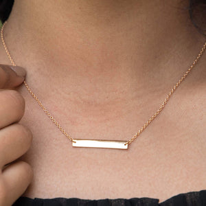 Sabyavi Pendant Gold Horizontal Bar Chain Pendant Sterling Silver