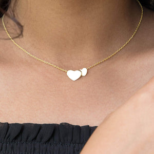 Sabyavi Pendant Gold Two Heart Chain Pendant Sterling Silver