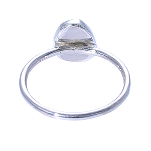 Sabyavi Ring Blue Tourmaline Bezel Set Ring Sterling Silver