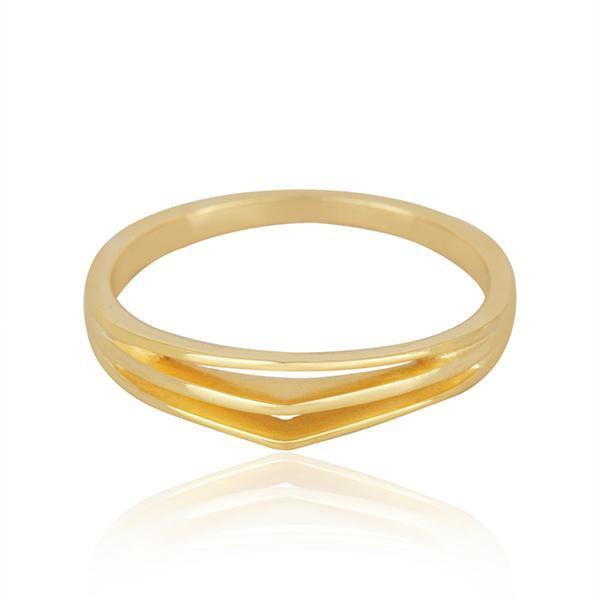 Sabyavi Ring Gold Arrow Band Sterling Silver