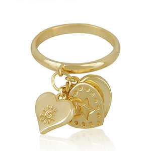 Sabyavi Ring Gold Charms Ring Sterling Silver