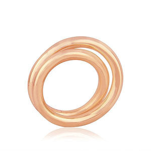 Sabyavi Ring Gold Entwined Circle Band Sterling Silver