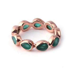 Sabyavi Ring Green Onyx Bezel Set Ring Sterling Silver