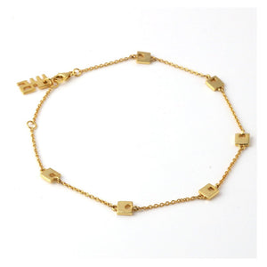 Sabyavi Square Bead Chain Anklet