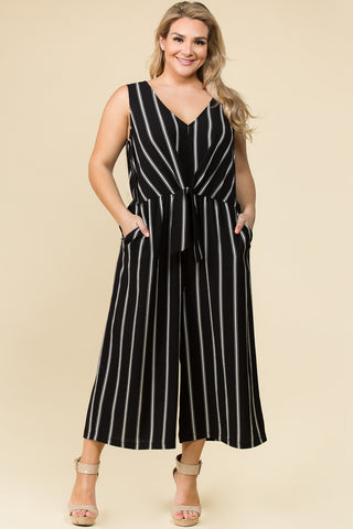 Jump Right in Crop Jumpsuit