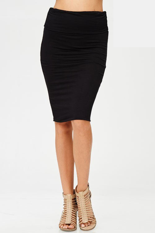 Nothing Mechanical About Midi Pencil Skirt