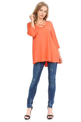 Cross Your Heart Wide Sleeve Tunic