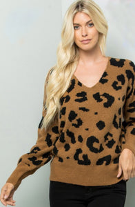 Leopard on the Loose Fitting Sweater