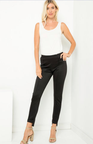 Simple Black Pants with Flair