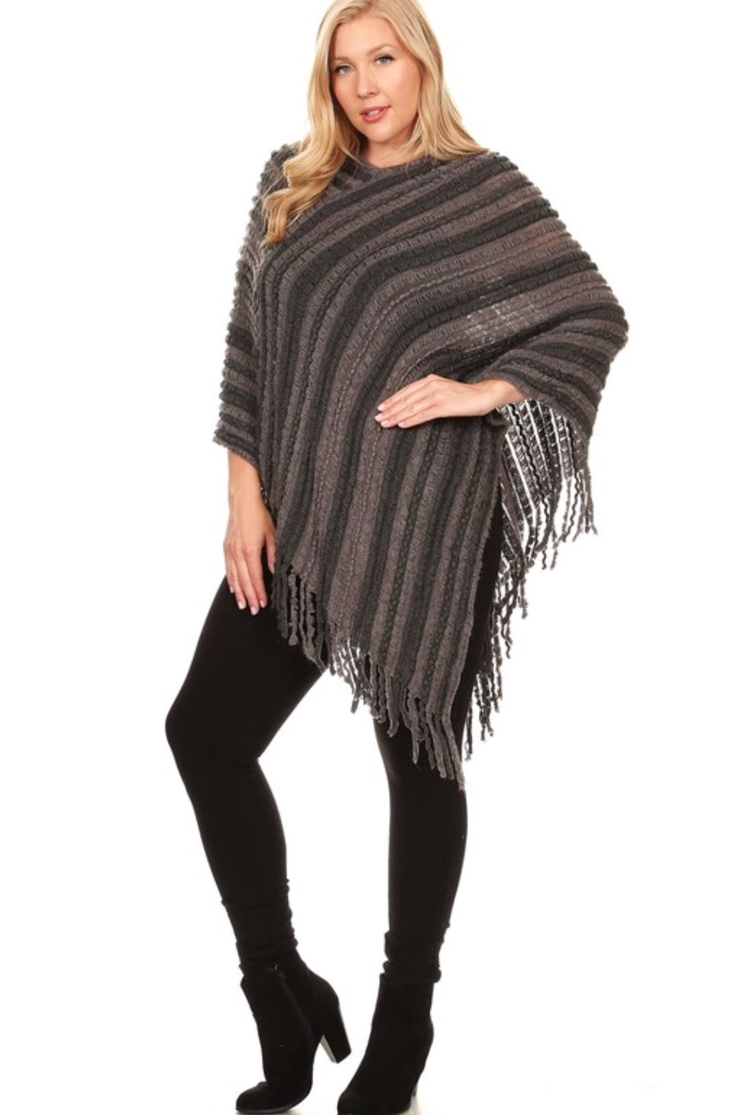 No Pushover Sweater Poncho