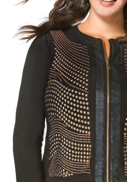 Light it up Lightweight Jacket with Gold Embellishments
