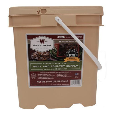 Grab and Go Bucket 80 Serving Pack (60 Meat/20 Rice)