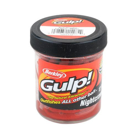 "Gulp! Extruded Nightcrawler Soft Bait 6"" Length, Red Wiggler"