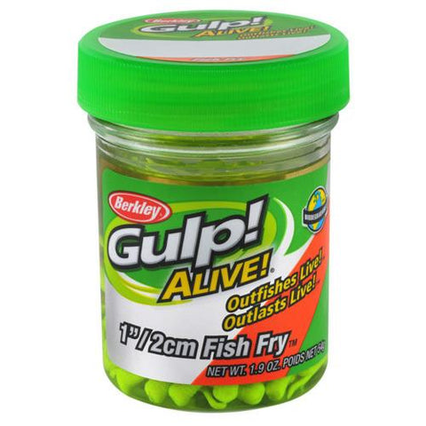 "Gulp! Alive! Fish Fry Soft Bait 1"" Length, Chartreuse"