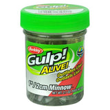"Gulp! Alive! Minnow Soft Bait 1"" Length, Emerald Shiner"
