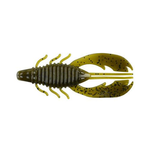 "Havoc Craw Fatty Soft Bait 4"" Length, Green Pumpkin, Per 8"